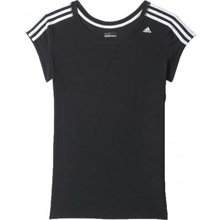 Damska koszulka sportowa z krótkim rękawem - adidas ESS THETEE - 1