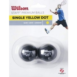 Wilson STAFF SQUASH 2 BALL YEL DOT