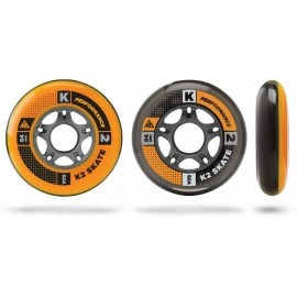 K2 Inline Skating WHEEL 8-PACK 84-82A + ILQ7 SPACER - Komplet łożysk i kółek do łyżworolek