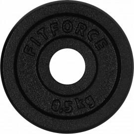 Fitforce OBCIĄŻENIE 0,5 KG CZARNA