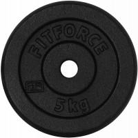 Fitforce OBCIAZENIE 5KG CZARNA