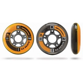 K2 Inline Skating WHEEL 8-PACK 90-82A + ILQ7 SPACER - Komplet łożysk i kółek do łyżworolek