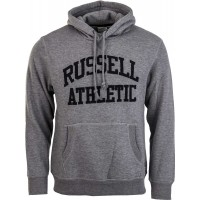 Russell Athletic PULL OVER HOODY WITH FLOCK ARCH LOGO - Bluza męska
