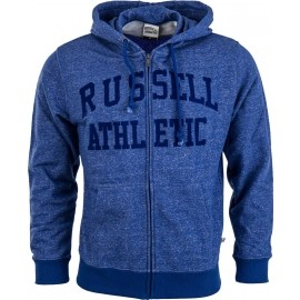 Russell Athletic ZIP THROUGH HOODY WITH FLOCK ARCH LOGO