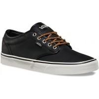 Vans ATWOOD (Leather) Black/Marshmallow - Tenisówki męskie
