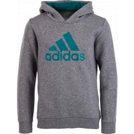 adidas YB ESS LOGO HD GREY - Bluza chłopięca - adidas