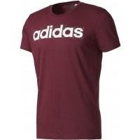 adidas LINEAR PURPLE - Koszulka męska