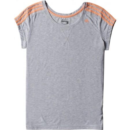 Damska koszulka sportowa z krótkim rękawem - adidas ESS THETEE - 10