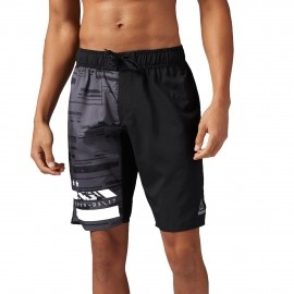 Reebok WORKOUT READY BOARD SHORT GRAPHIC - Spodenki treningowe męskie