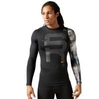 Reebok SRM LS COMP - Koszulka elastyczna męska