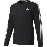 adidas ESSENTIALS 3 STRIPES CREW FRENCH TERRY - Koszulka męska z długim rękawem