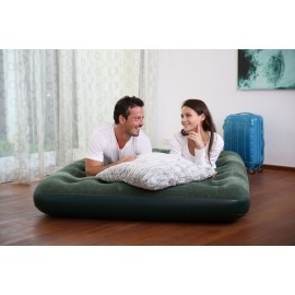 Bestway FLOCKED AIR BED GN - Materac dmuchany dwuosobowy