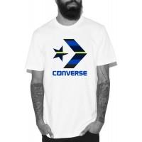 Converse STAR CHEVRON STRIPE FILL TEE - Koszulka męska