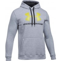 Under Armour RIVAL FITTED GRAPHIC HOODIE - Bluza męska