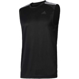 adidas DESIGN TO MOVE SLEEVELESS 3 STRIPES - Koszulka treningowa męska