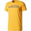 Koszulka męska - adidas ESS LINEAR KNITTING REGULAR TEE - 1