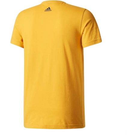 Koszulka męska - adidas ESS LINEAR KNITTING REGULAR TEE - 2