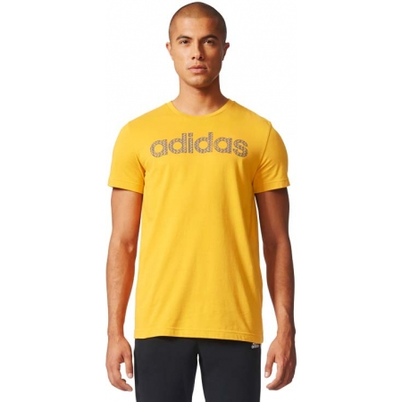 Koszulka męska - adidas ESS LINEAR KNITTING REGULAR TEE - 3