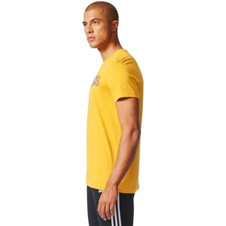 Koszulka męska - adidas ESS LINEAR KNITTING REGULAR TEE - 4