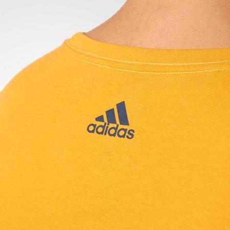 Koszulka męska - adidas ESS LINEAR KNITTING REGULAR TEE - 8