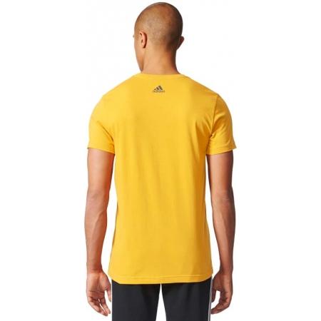 Koszulka męska - adidas ESS LINEAR KNITTING REGULAR TEE - 5