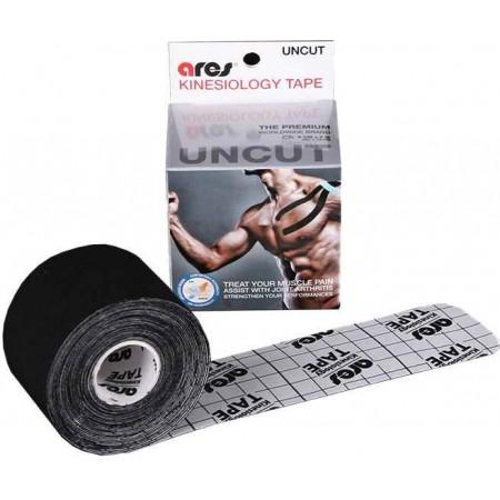 KINEZIO TAPE CZARNY 5 CM X 5 M – Plaster sportowy - Ares KINEZIO TAPE CZARNY 5 CM X 5 M