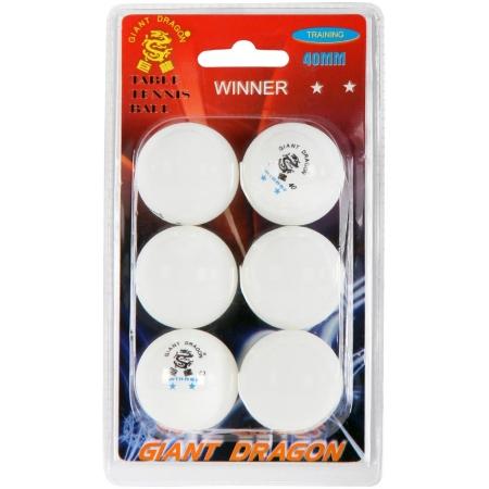 Piłeczki do tenisa stołowego - Giant Dragon WHT PI PO PIŁECZKI 6PCS