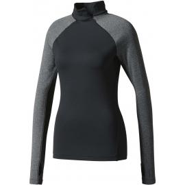 adidas TF TOP LS HZ W BLACK - Koszulka damska z długim rękawem