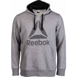Reebok WORKOUT READY BIG LOGO HOOD - Bluza męska
