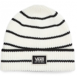Vans W FALCON BEANIE Marsmallow Shine on Stripe - Czapka damska