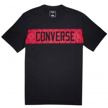 Koszulka męska - Converse STAR BLOCK TEE - 2