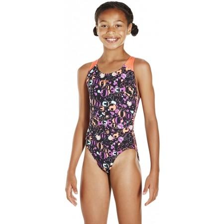 Strój kąpielowy dziewczęcy - Speedo FUNSPLASH ALLOVER SPLASHBACK - 2
