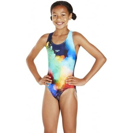 Strój kąpielowy dziewczęcy - Speedo WATERMIST PLACEMENT DIGITAL SPASHBACK - 2