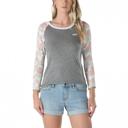 Koszulka damska z długim rękawem - Vans POPPY DREAM RAGLAN - 1