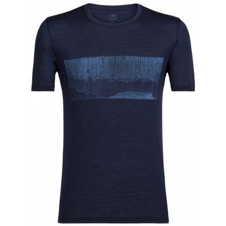 Koszulka męska - Icebreaker TECH LITE SS CREWE HARD RAIN - 1