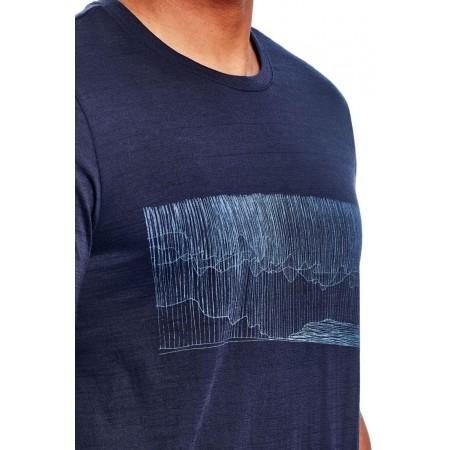 Koszulka męska - Icebreaker TECH LITE SS CREWE HARD RAIN - 5