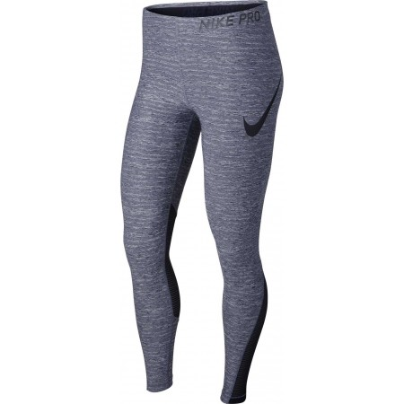 Legginsy treningowe damskie - Nike TGHT HEATHER - 1