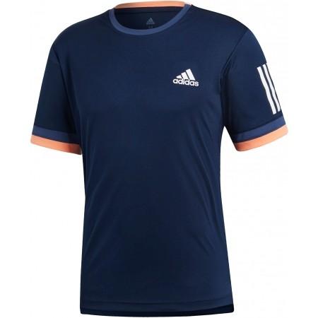 Koszulka tenisowa męska - adidas CLUB 3 STRIPES TEE - 1
