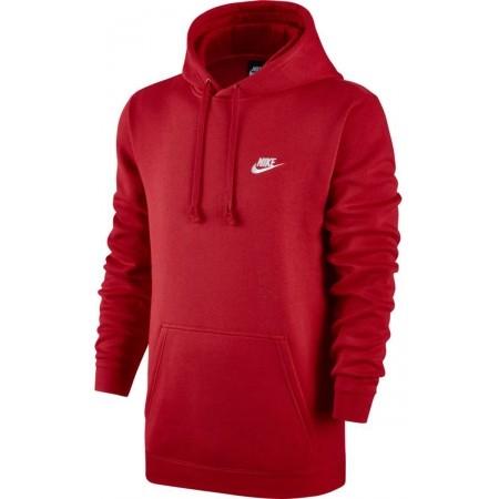 Bluza z kapturem męska - Nike HOODIE PO FLC CLUB - 1