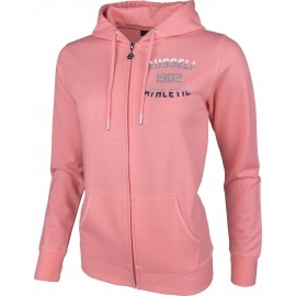 Russell Athletic ZIP THROUGH HOODY WITH MIXED DUAL TECHNIQUE PRINT
