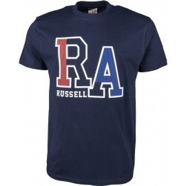 Russell Athletic S/S CREW TEE WITH LARGE RA MESH EFFECT RAISED PRINT