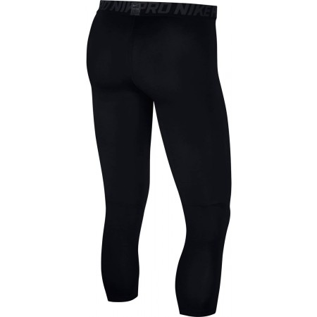Legginsy treningowe męskie - Nike PRO TGHT 3QT - 2