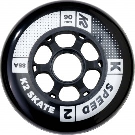 K2 Inline Skating 90MM SPEED WHEEL 4-PACK - Zestaw kółek do łyżworolek