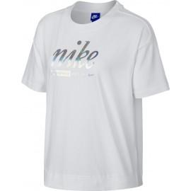 Nike SPOSTSWEAR TOP CROP METALLIC - Koszulka damska