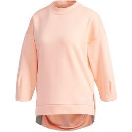 adidas W S2S BIG LOGO FLEECE 3/4 SLEEVE PULLOVER SWT - Bluza damska