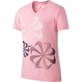 Nike NK DRY LEG TEE V SWOOSH - Koszulka dziewczęca