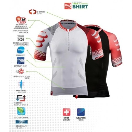 TRAIL SHIRT – Koszulka do biegania męska - Compressport TRAIL SHIRT - 8